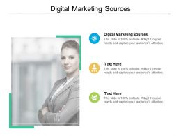 Digital Marketing Sources Ppt Powerpoint Presentation Layouts Image Cpb