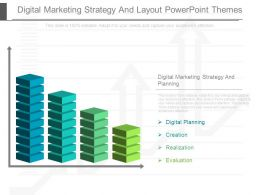 Digital Marketing Strategy And Layout Powerpoint Themes