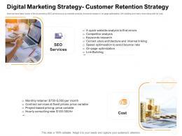 Digital Marketing Strategy Customer Retention Strategy How Enter Health Fitness Club Market Ppt Summary Design