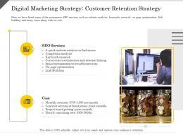 Digital Marketing Strategy Customer Retention Strategy Optimization Ppt Powerpoint Presentation Outline Inspiration