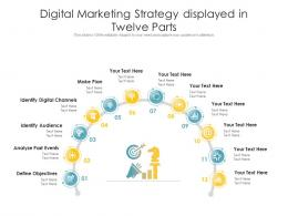 Digital Marketing Strategy Displayed In Twelve Parts