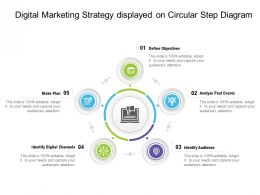 Digital Marketing Strategy Displayed On Circular Step Diagram