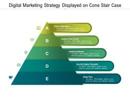 Digital Marketing Strategy Displayed On Cone Stair Case