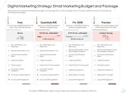 Digital Marketing Strategy Email Budget And Package Entry Gym Health Fitness Clubs Industry Ppt Professional