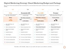 Digital Marketing Strategy Email Marketing Budget And Package Wellness Industry Overview Ppt Aids