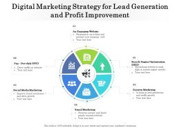 Digital Marketing Strategy For Lead Generation And Profit Improvement