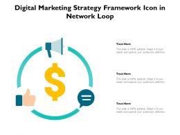 Digital Marketing Strategy Framework Icon In Network Loop
