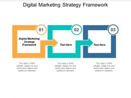 Digital Marketing Strategy Framework Ppt Powerpoint Presentation Visual Cpb
