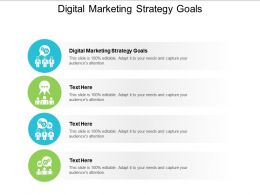 Digital Marketing Strategy Goals Ppt Powerpoint Presentation Icon Background Images Cpb
