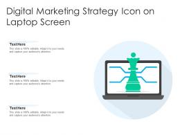 Digital Marketing Strategy Icon On Laptop Screen