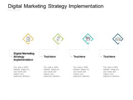 Digital Marketing Strategy Implementation Ppt Powerpoint Presentation Inspiration Sample Cpb