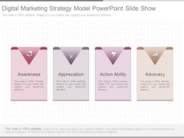 Digital Marketing Strategy Model Powerpoint Slide Show