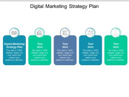 Digital Marketing Strategy Plan Ppt Powerpoint Presentation Icon File Formats Cpb