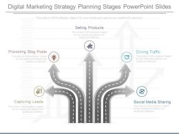 Digital Marketing Strategy Planning Stages Powerpoint Slides