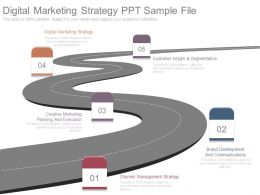 Digital Marketing Strategy Ppt Sample File