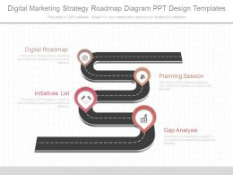 Digital Marketing Strategy Roadmap Diagram Ppt Design Templates