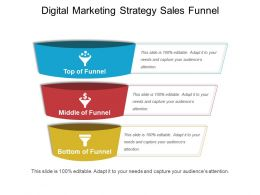 Digital Marketing Strategy Sales Funnel Ppt Example File