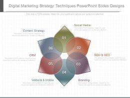 Digital Marketing Strategy Techniques Powerpoint Slides Designs