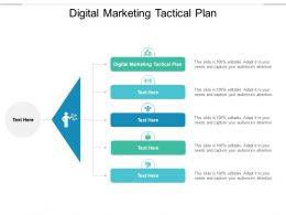 Digital Marketing Tactical Plan Ppt Powerpoint Presentation Model Graphics Download Cpb