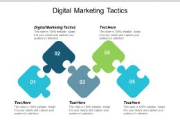 Digital Marketing Tactics Ppt Powerpoint Presentation Infographic Template Layouts Cpb