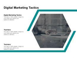 Digital Marketing Tactics Ppt Powerpoint Presentation Inspiration Microsoft Cpb