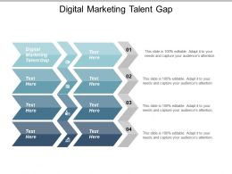 Digital Marketing Talent Gap Ppt Powerpoint Presentation Pictures Slide Portrait Cpb