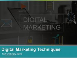 Digital Marketing Techniques Powerpoint Presentation Slides Go To Market