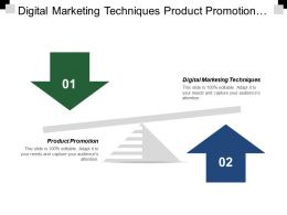 Digital Marketing Techniques Product Promotion Business Marketing Analysis Cpb