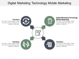 Digital Marketing Technology Mobile Marketing Ppt Powerpoint Presentation Professional Cpb