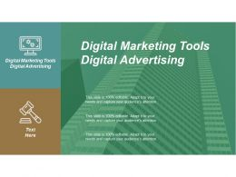 Digital Marketing Tools Digital Advertising Ppt Powerpoint Presentation Inspiration Brochure Cpb