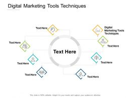 Digital Marketing Tools Techniques Ppt Powerpoint Presentation Infographic Template Shapes Cpb