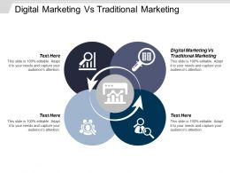 Digital Marketing Vs Traditional Marketing Ppt Powerpoint Presentation Gallery Design Ideas Cpb