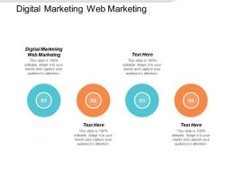 Digital Marketing Web Marketing Ppt Powerpoint Presentation Styles Picture Cpb