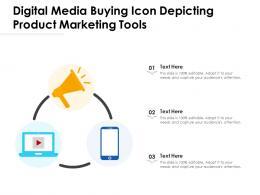 Digital Media Buying Icon Depicting Product Marketing Tools