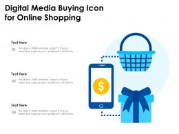 Digital Media Buying Icon For Online Shopping