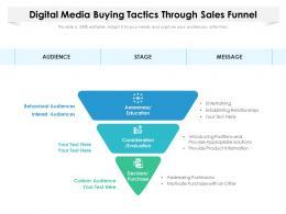 Digital Media Buying Tactics Through Sales Funnel
