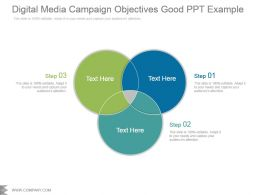 Digital Media Campaign Objectives Good Ppt Example