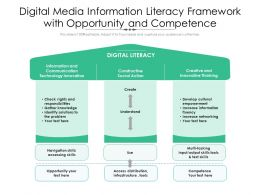Digital Media Information Literacy Framework With Opportunity And Competence