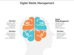 Digital Media Management Ppt Powerpoint Presentation File Example Topics Cpb