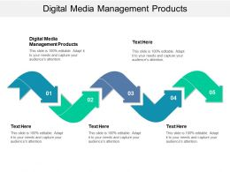 Digital Media Management Products Ppt Powerpoint Presentation Slides Example Topics Cpb