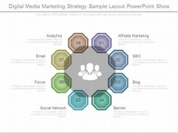 Digital Media Marketing Strategy Sample Layout Powerpoint Show