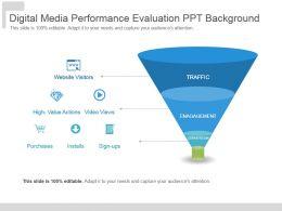 Digital Media Performance Evaluation Ppt Background