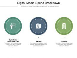 Digital Media Spend Breakdown Ppt Powerpoint Presentation Styles Diagrams Cpb