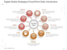 Digital Media Strategies Powerpoint Slide Introduction