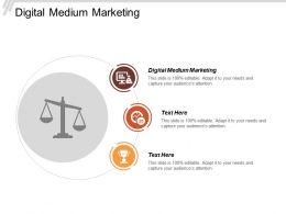 Digital Medium Marketing Ppt Powerpoint Presentation Icon Clipart Cpb
