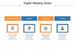 Digital Meeting Notes Ppt Powerpoint Presentation Inspiration Layouts Cpb