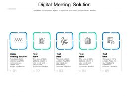 Digital Meeting Solution Ppt Powerpoint Presentation Inspiration Background Images Cpb