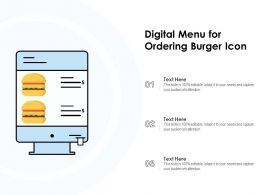 Digital Menu For Ordering Burger Icon