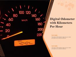 Digital Odometer With Kilometers Per Hour
