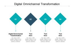 Digital Omnichannel Transformation Ppt Powerpoint Presentation Summary Graphics Cpb